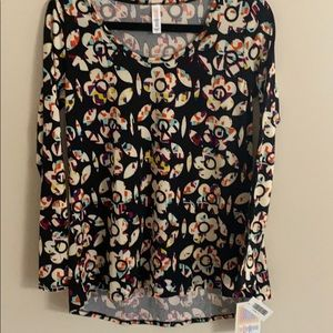 Long sleeve top lynnae lu la roe flower